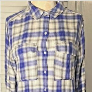 Two by Vince Camuto Shirt Button Down Hi Low